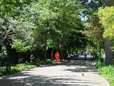 The Man In The Bright-Orange Bio-Hazard Suit by Mandy J Watson, on Flickr