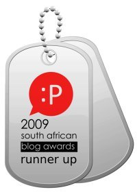 2009 SA Blog Awards Runner Up