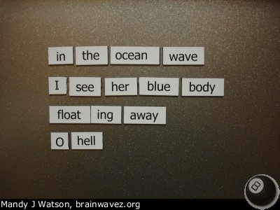 Fridge Poetry - Halloween Edition